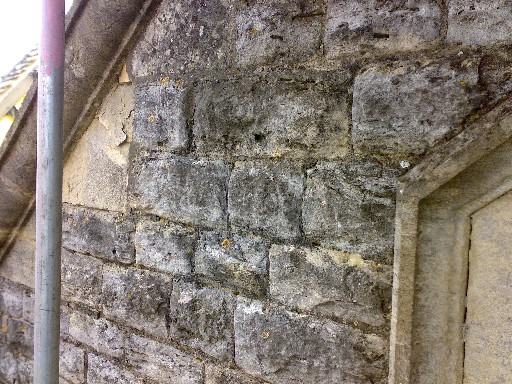 Close Up of Stonework before cleaning