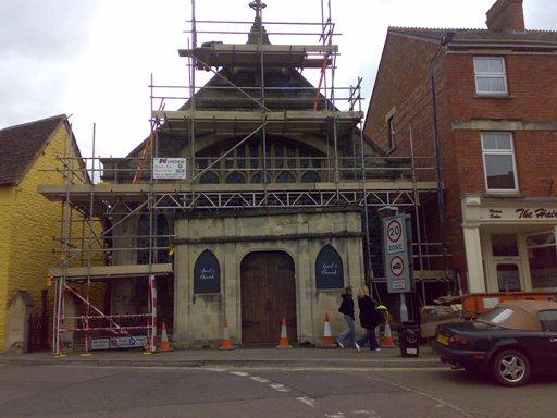 Malmesbury Church Before cleaning