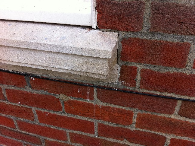 Window Cill with Mortar Repair to Damaged Corner