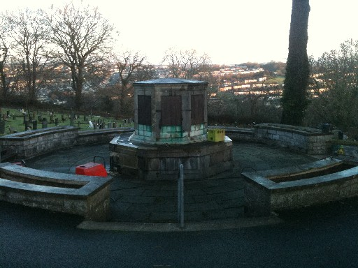 War Memorial Before Cleaning