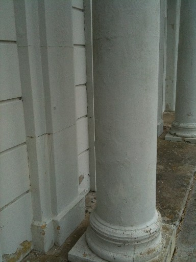 Tidworth House Column Before Paint removed