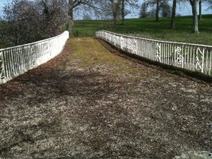 Completed Railings Over Bridge - after sandblasting; priming & top coating