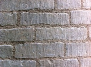 Close Up of Pointing with Lime Putty