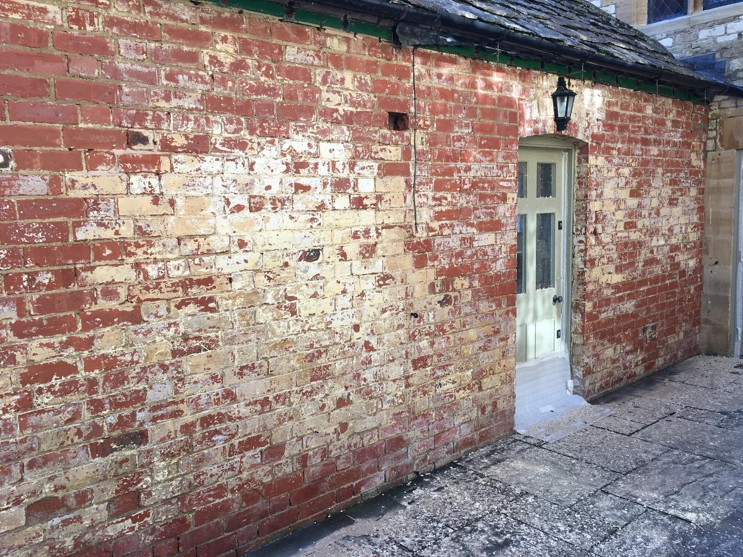 Removing limewash from brickwork