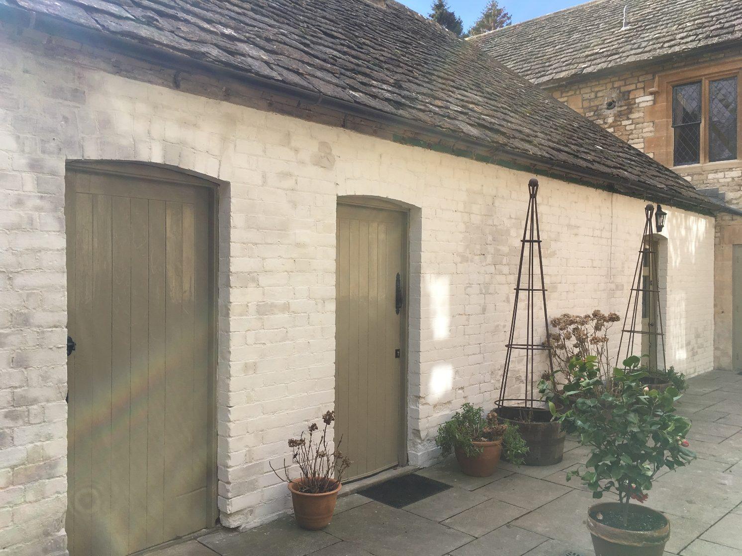Brick kitchen during refurbishment