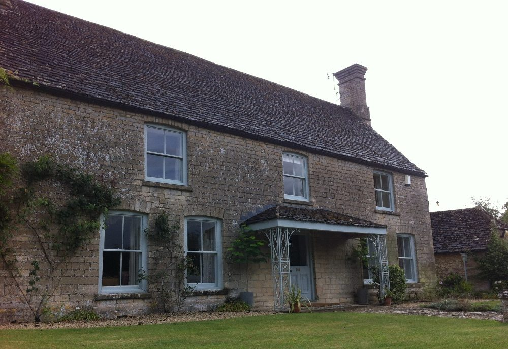 Limestone Farmhouse before Cleaning and Repointing