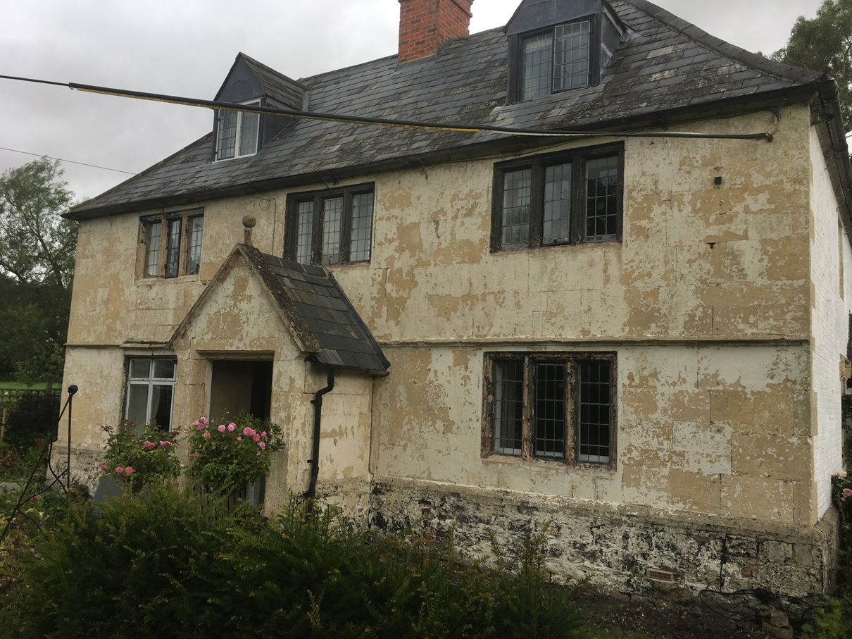 After masonry paint has been removed