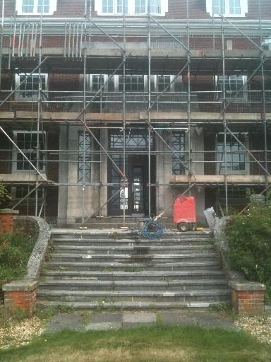 Rear Doorway Before Cleaning & restoration work