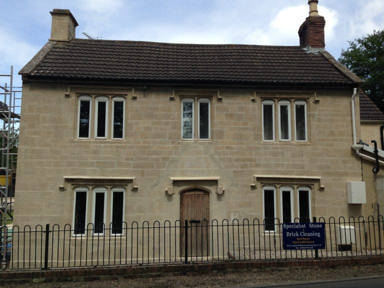 Cotswold Stone House After Cleaning Repointing