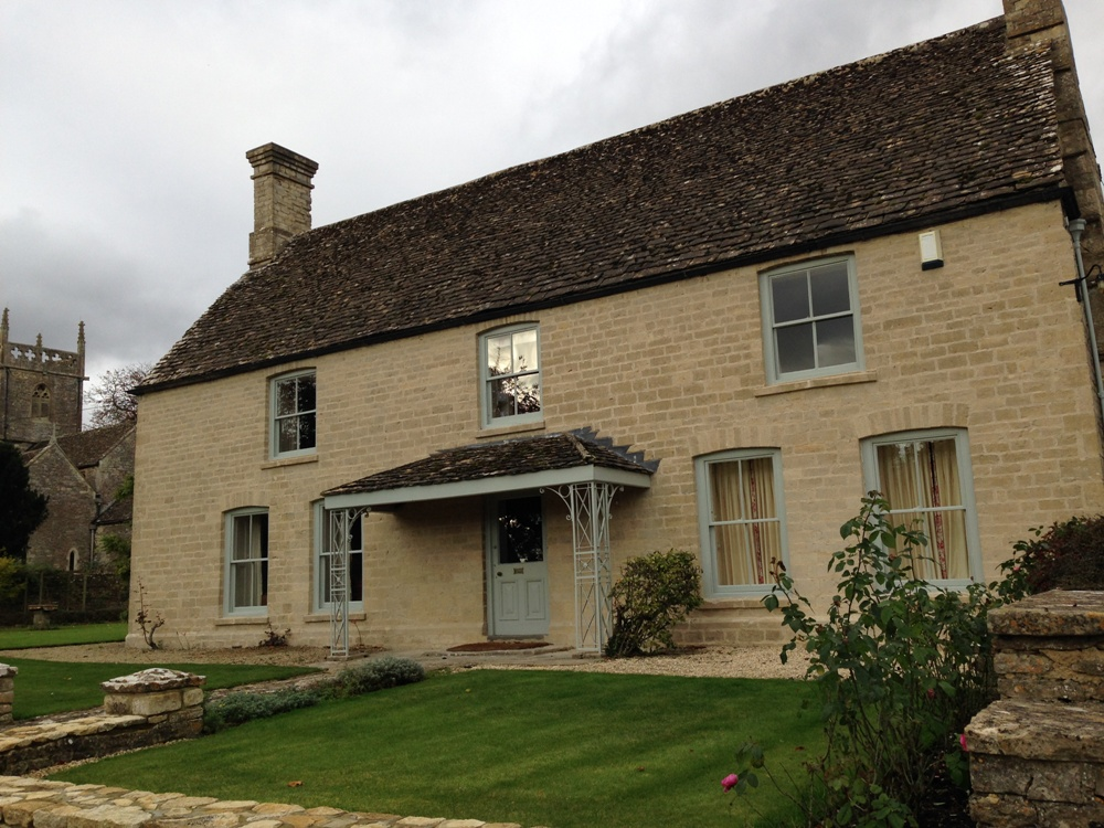 Limestone Farmhouse after cleaning and repointing